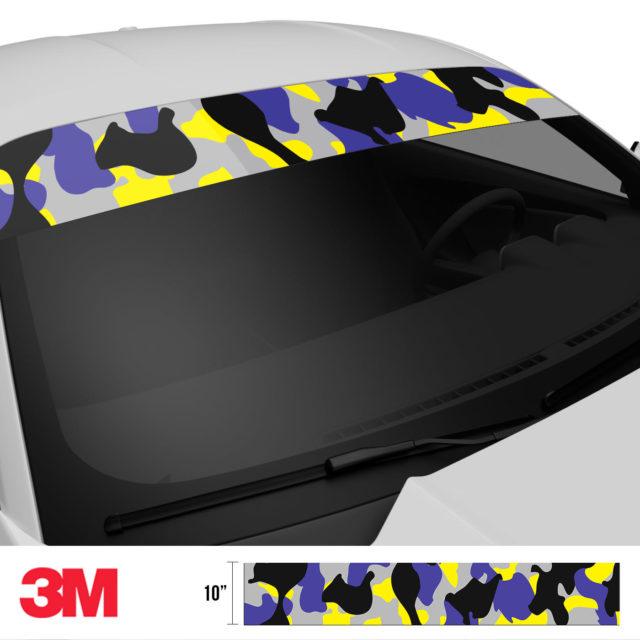 Jdm Premium Windshield Strip Banner Camo Lavender Side 2