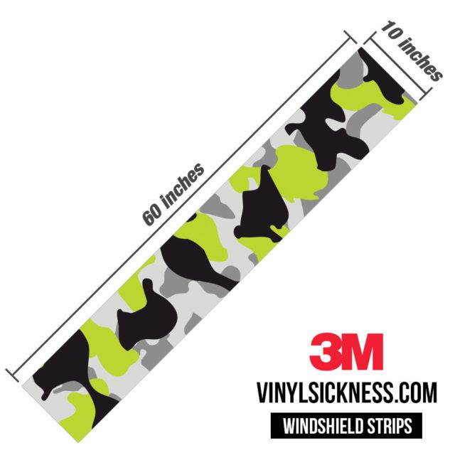 Jdm Premium Windshield Strip Banner Camo Lemon Dimensions
