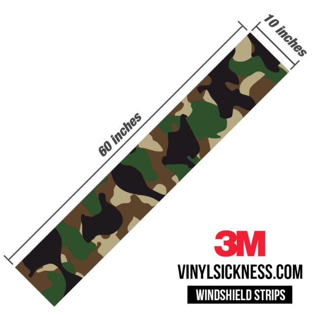 Jdm Premium Windshield Strip Banner Camo Military Dimensions