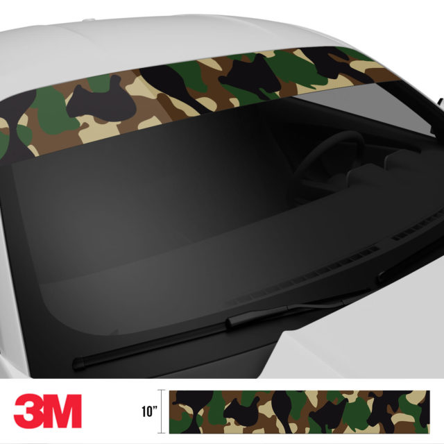Jdm Premium Windshield Strip Banner Camo Military Side 2