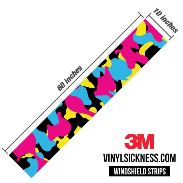 Jdm Premium Windshield Strip Banner Camo Neon Party Dimensions