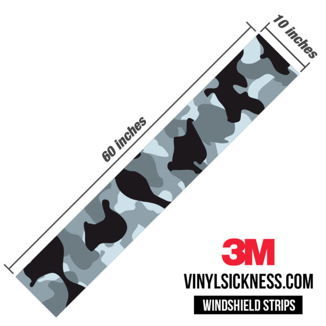 Jdm Premium Windshield Strip Banner Camo Seal Dimensions