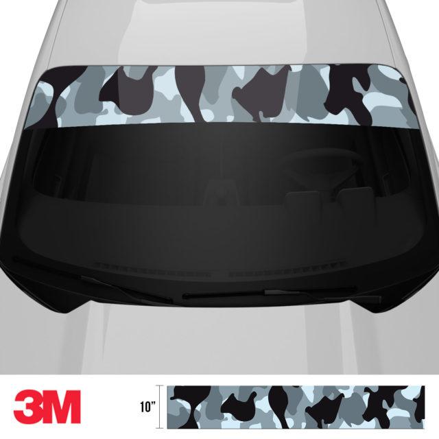 Jdm Premium Windshield Strip Banner Camo Seal Front 2