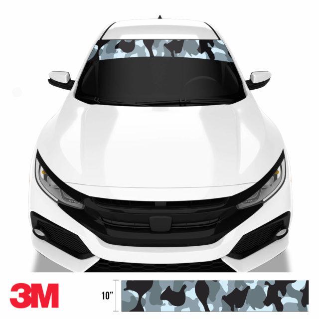 Jdm Premium Windshield Strip Banner Camo Seal Front
