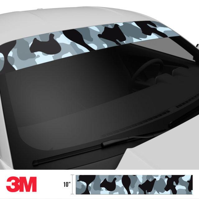 Jdm Premium Windshield Strip Banner Camo Seal Side 2