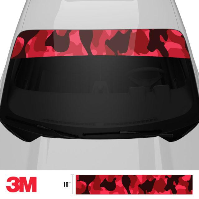 Jdm Premium Windshield Strip Banner Camo Vampire Front 2