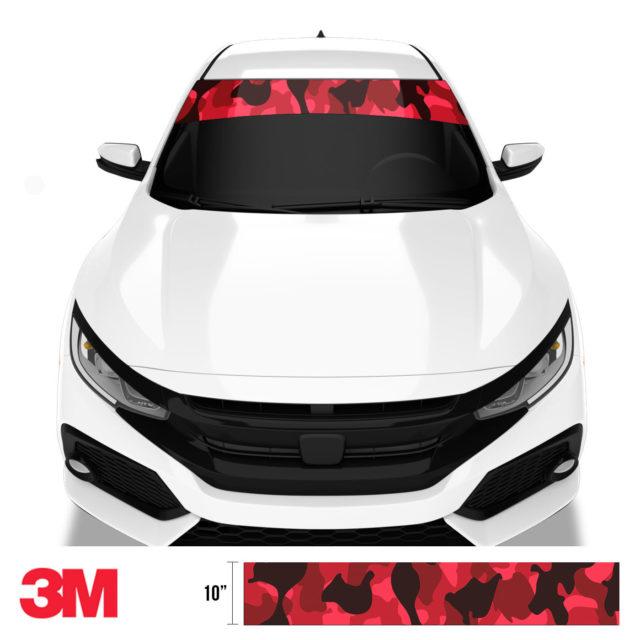 Jdm Premium Windshield Strip Banner Camo Vampire Front
