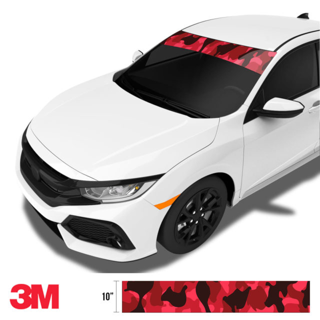 Jdm Premium Windshield Strip Banner Camo Vampire Side