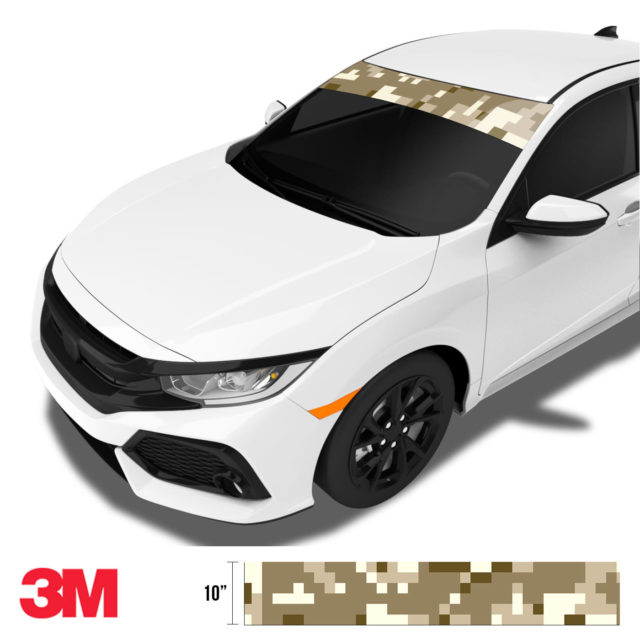 Jdm Premium Windshield Strip Banner Digital Camo Desert Side