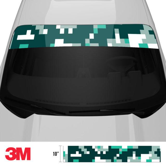 Jdm Premium Windshield Strip Banner Digital Camo Ice Front 2
