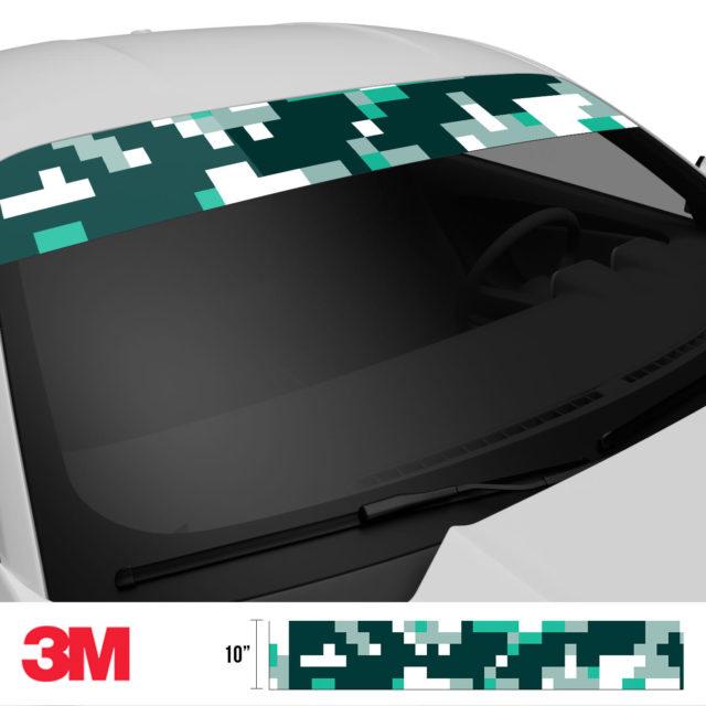 Jdm Premium Windshield Strip Banner Digital Camo Ice Side 2