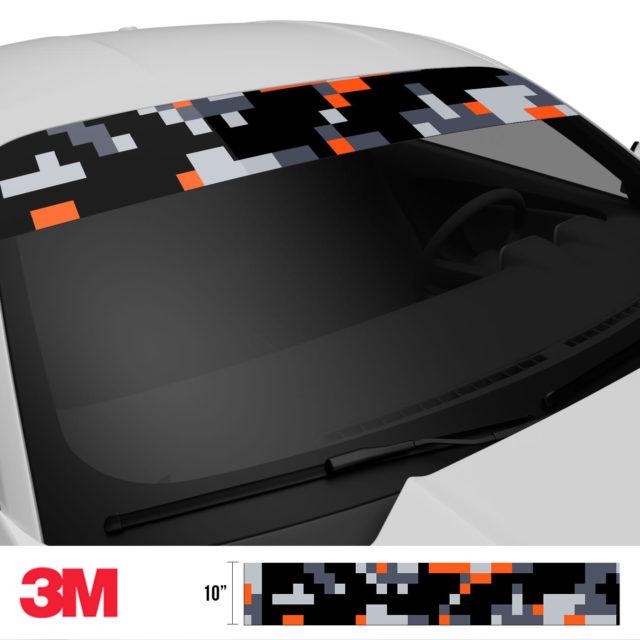 Jdm Premium Windshield Strip Banner Digital Camo Sunset Side 2