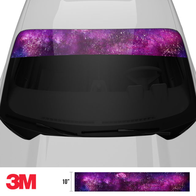 Jdm Premium Windshield Strip Banner Galaxy Front 2