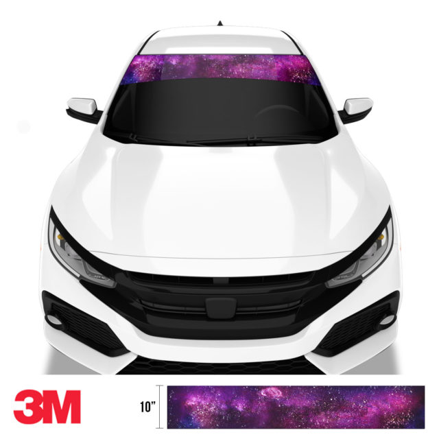 Jdm Premium Windshield Strip Banner Galaxy Front