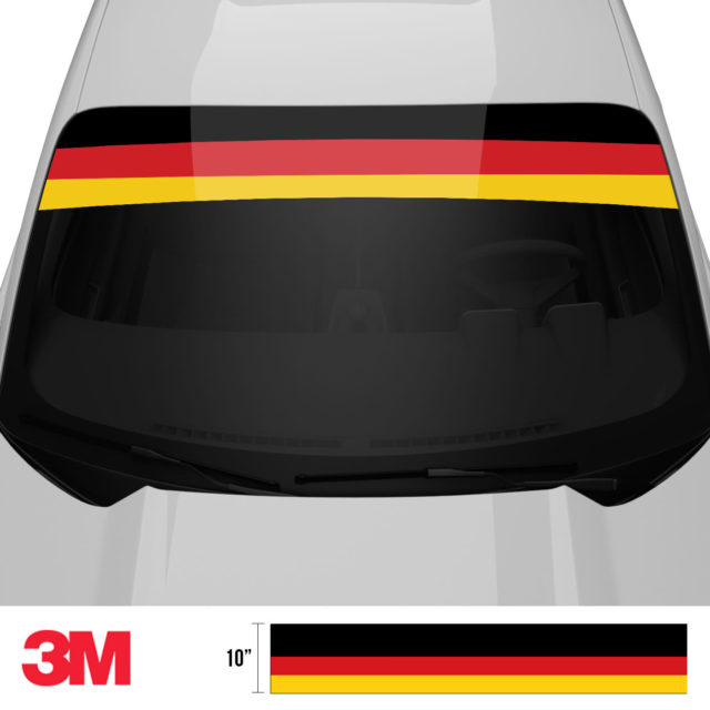 Jdm Premium Windshield Strip Banner Germany Front 2
