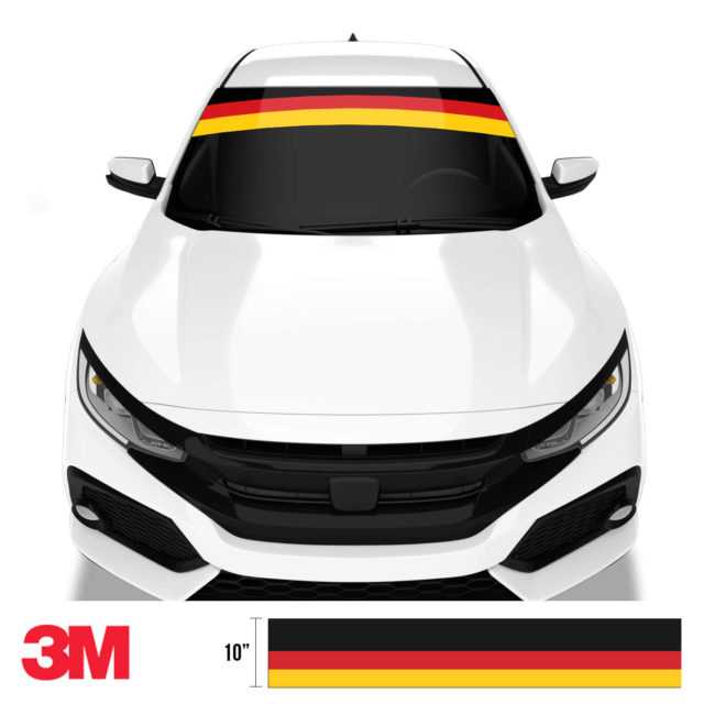 Jdm Premium Windshield Strip Banner Germany Front