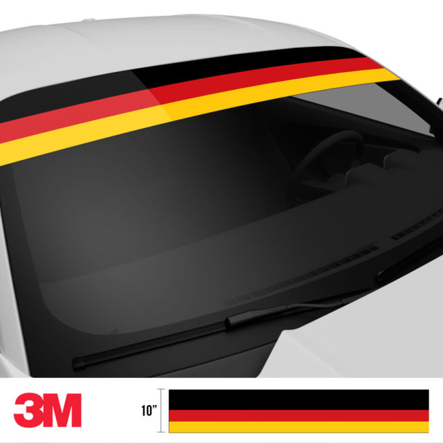 Jdm Premium Windshield Strip Banner Germany Side 2