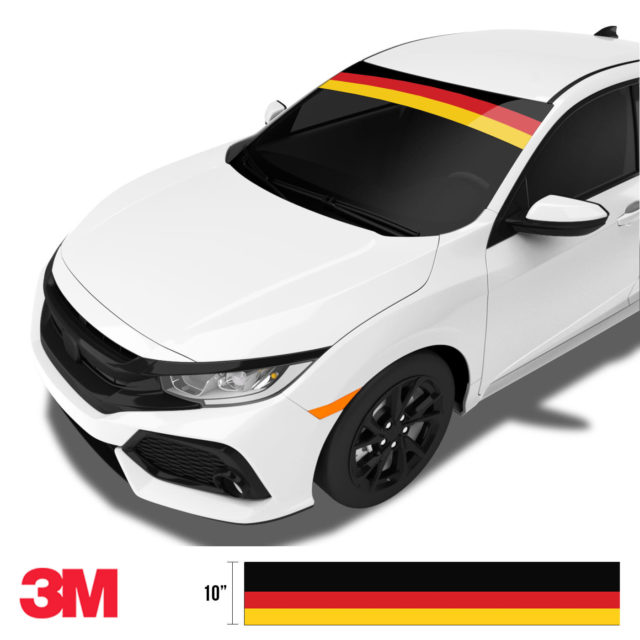 Jdm Premium Windshield Strip Banner Germany Side