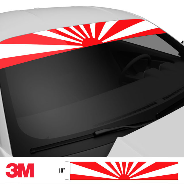 Jdm Premium Windshield Strip Banner Rising Sun Side 2