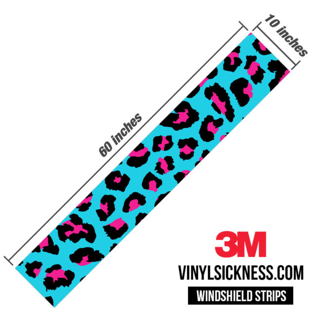 Jdm Tuner Leopard Skin Candy Pop Windshield Sun Strip Dimension
