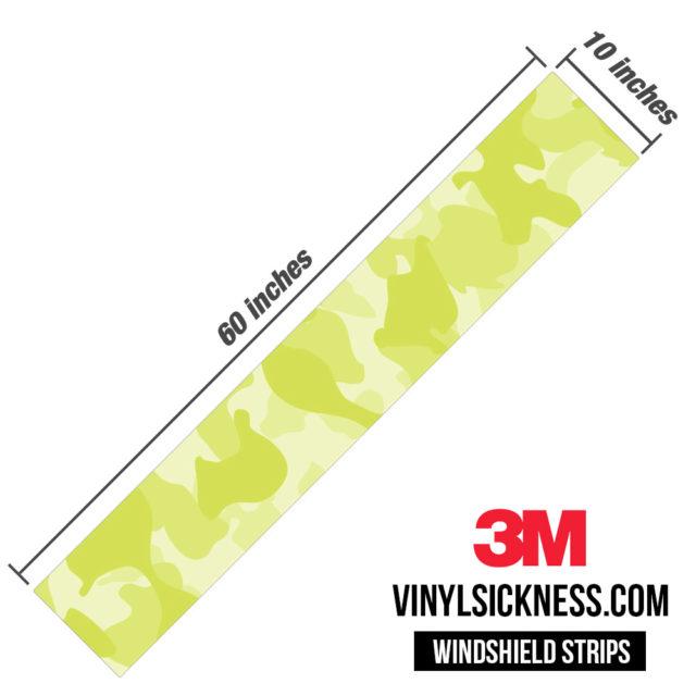 Lemon Shade Camo Windshield Sun Strip Dimension