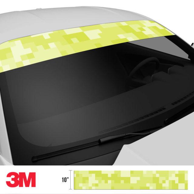 Lemon Shade Digital Camo Windshield Sun Strip Side 2