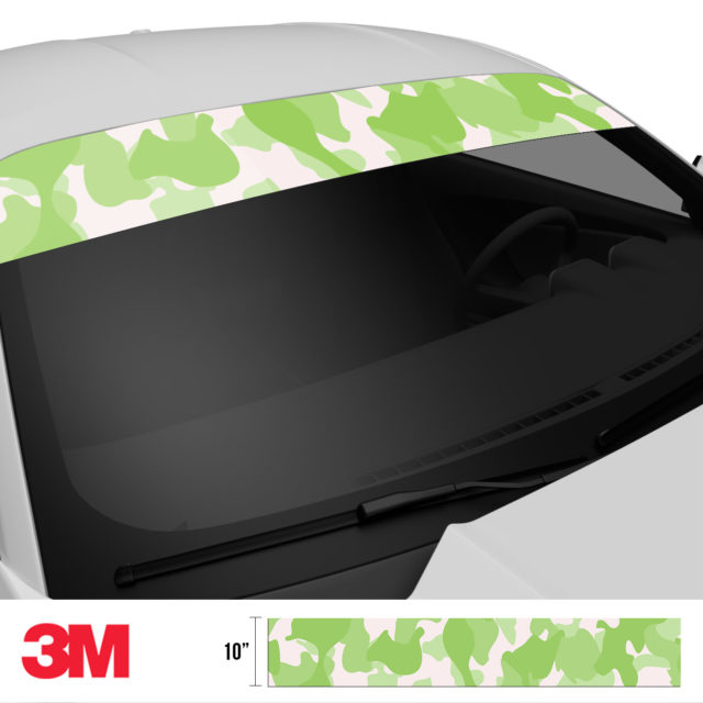 Lime Shade Camo Windshield Sun Strip Side 2