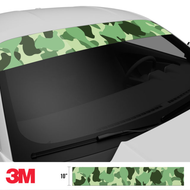 Majestic Lake Camo Windshield Sun Strip Side 2