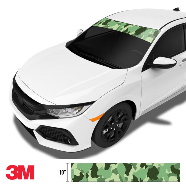 Majestic Lake Camo Windshield Sun Strip Side