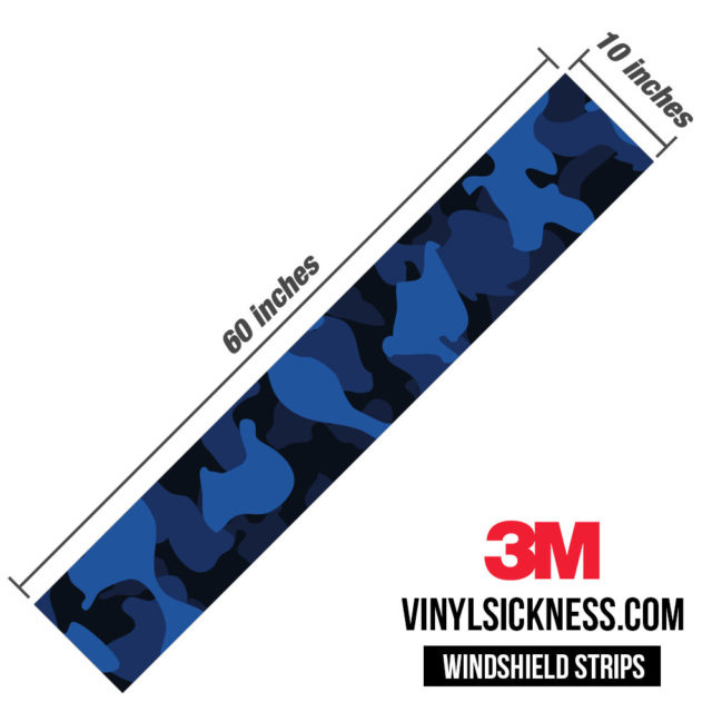 Midnight Blue Sapphire Windshield Sun Strip Dimension
