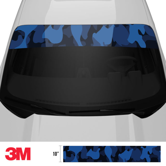 Midnight Blue Sapphire Windshield Sun Strip Front 2