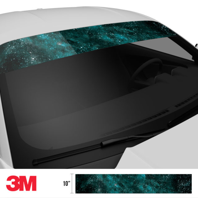 Mint Galaxy Windshield Sun Strip Side 2