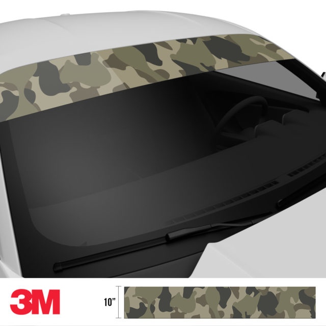 Moss Stone Camo Windshield Sun Strip Side 2