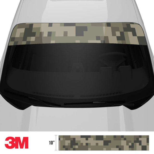 Moss Stone Digital Camo Windshield Sun Strip Front 2