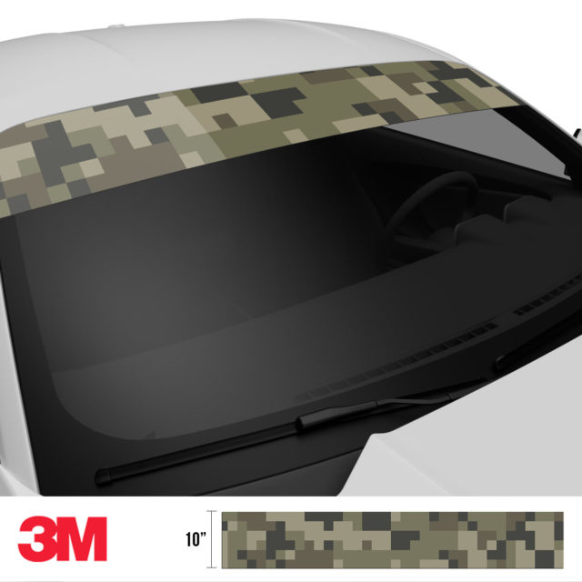Moss Stone Digital Camo Windshield Sun Strip Side 2
