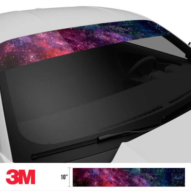 Nebula Galaxy Windshield Sun Strip Side 2