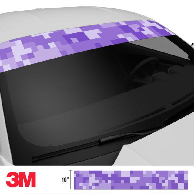 Orchid Purple Digital Camo Windshield Sun Strip Side 2