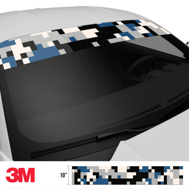 Oxford Blue Digital Camo Windshield Sun Strip Side 2