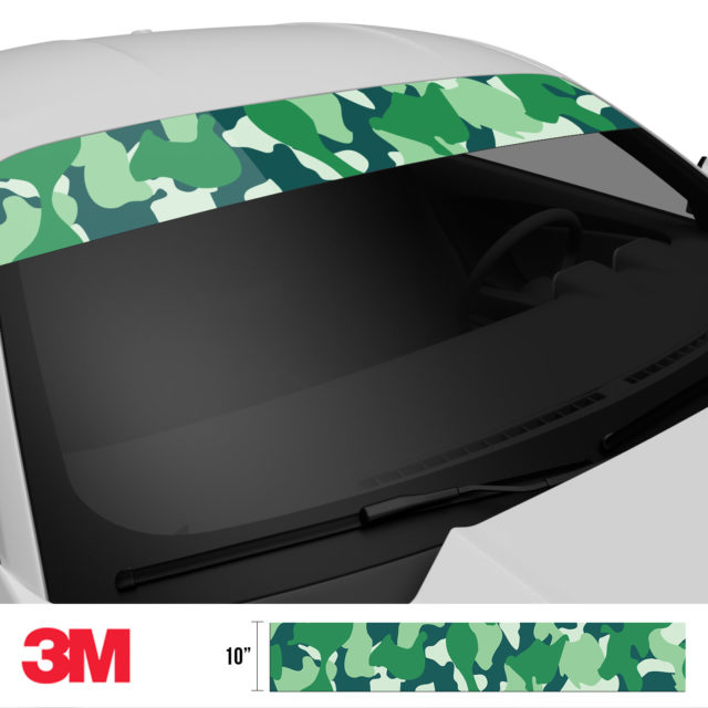 Pine Fern Camo Windshield Sun Strip Side 2