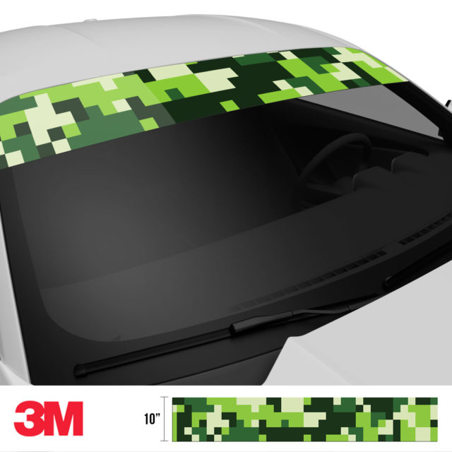 Pine Pear Digital Camo Windshield Sun Strip Side 2