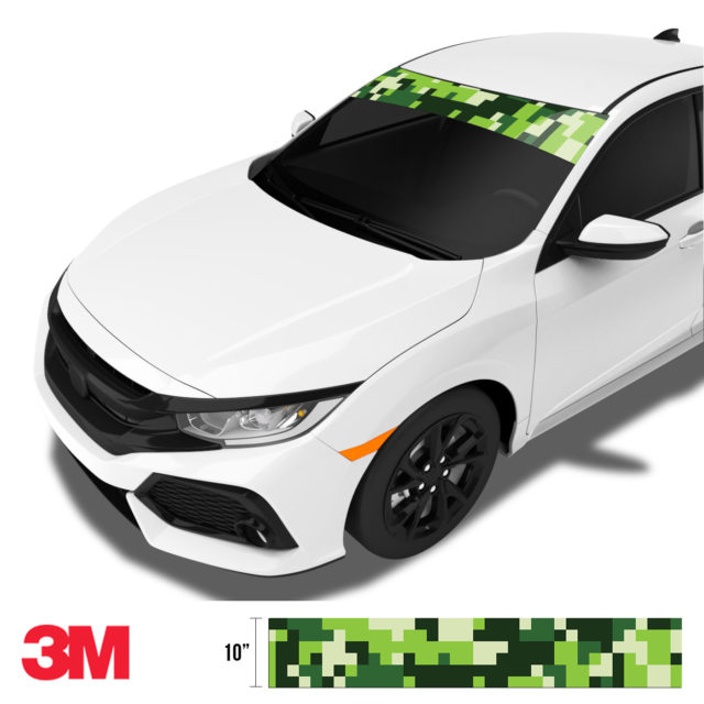 Pine Pear Digital Camo Windshield Sun Strip Side