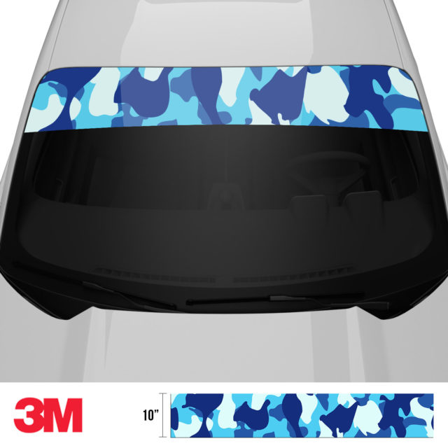 Prussian Blue Windshield Sun Strip Front 2
