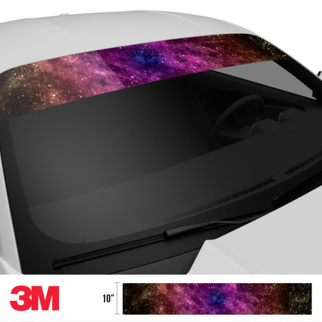 Purple Celestial Galaxy Windshield Sun Strip Side 2