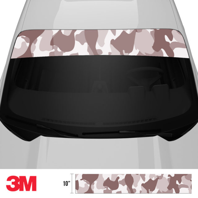 Quarry Clay Shiitake Camo Windshield Sun Strip Front 2