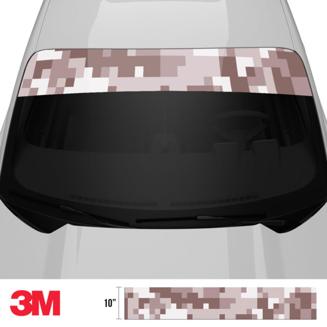 Quarry Clay Shiitake Digital Camo Windshield Sun Strip Front 2