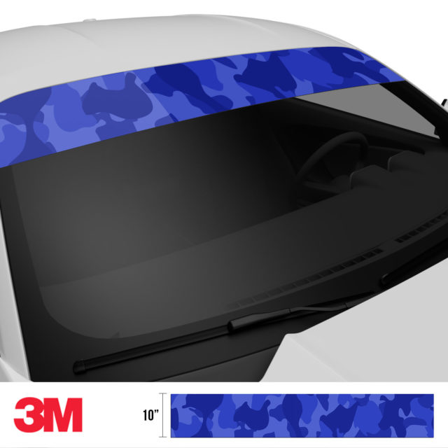 Royal Blue Windshield Sun Strip Side 2