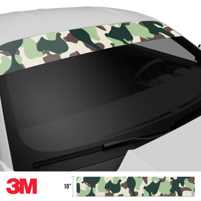 Sage Sacramento Camo Windshield Sun Strip Side 2