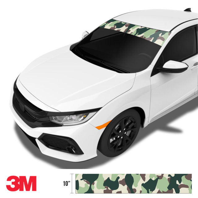Sage Sacramento Camo Windshield Sun Strip Side