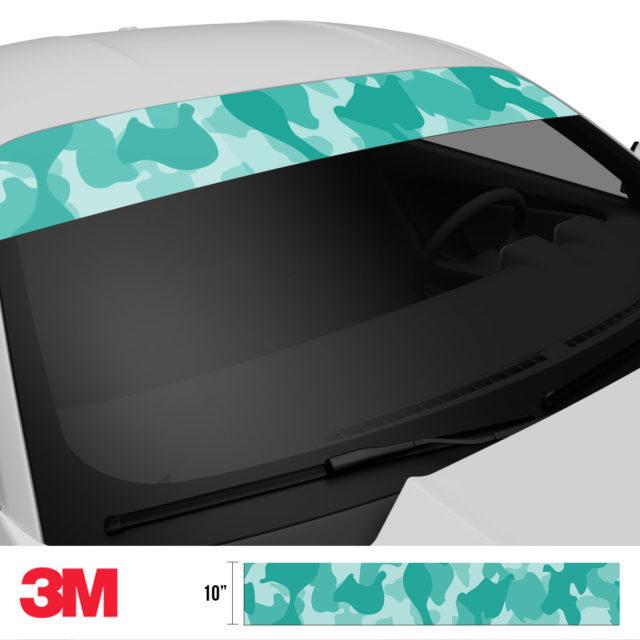 Sea Green Camo Windshield Sun Strip Side 2