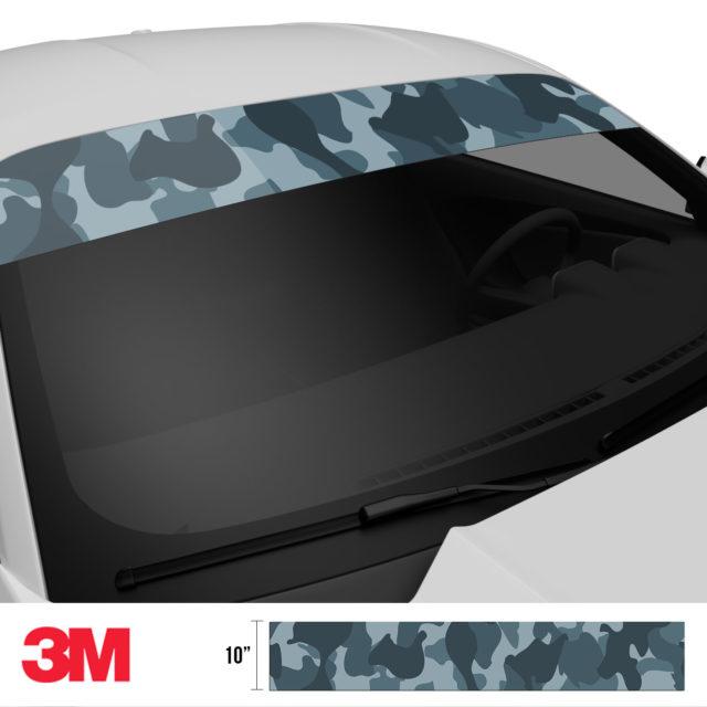Slate Grey Camo Windshield Sun Strip Side 2
